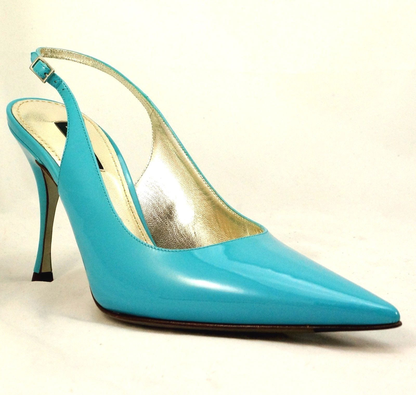 Dolce and gabbana Blue Leather Heel.