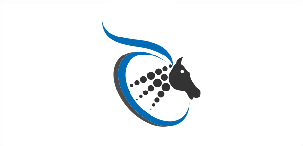 artistic horse logo design for companies