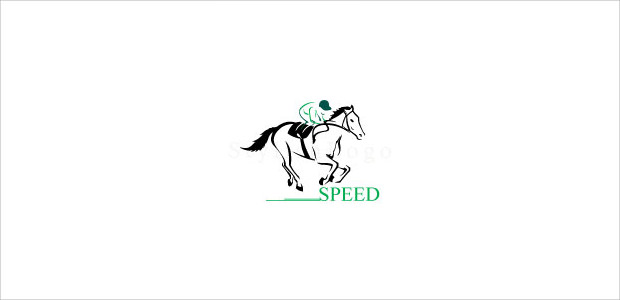 ferrocious running race horse logo for clubs