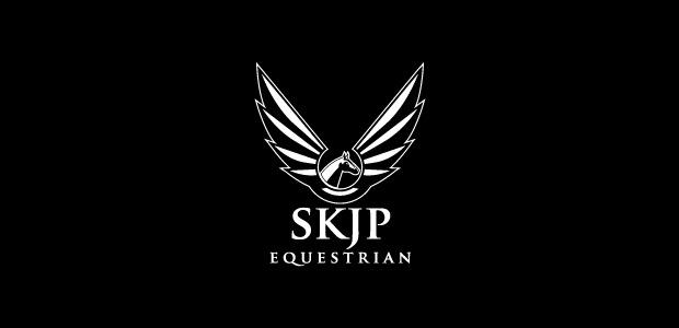 elegant steel horse logo design