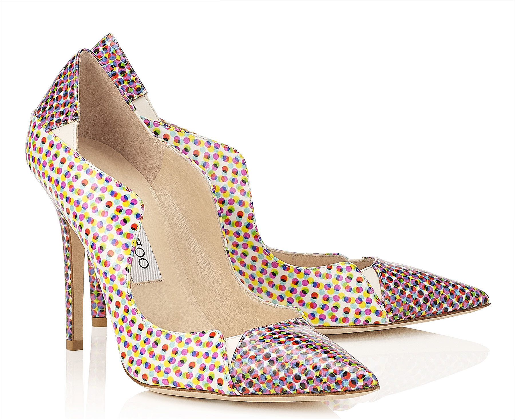 Jimmy Choo Different Colored Dots.