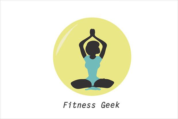 flat fittness geek logo