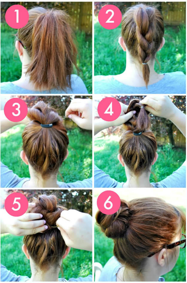 Knot-so-Braided Bun