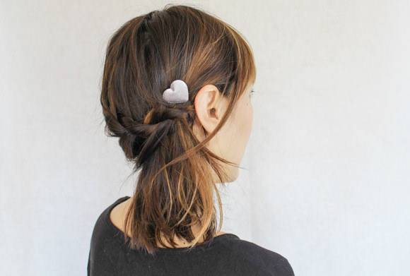 The Braid-Wrapped Ponytail