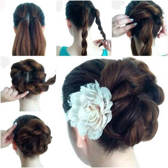 double twist hairstyle