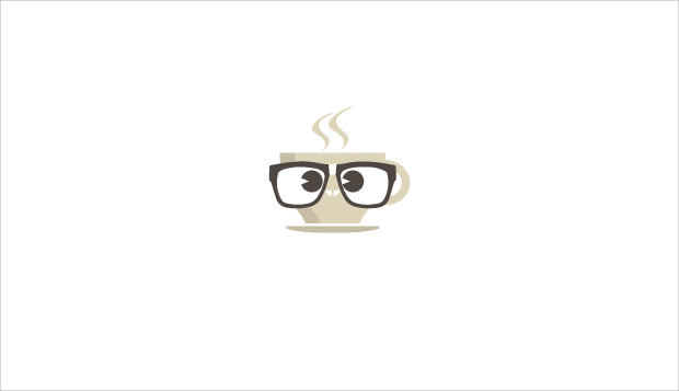 attractive geek tea cup logo
