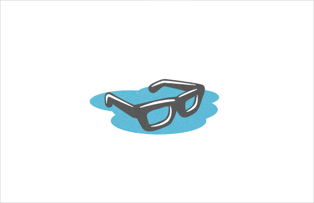 cool floating geek logo