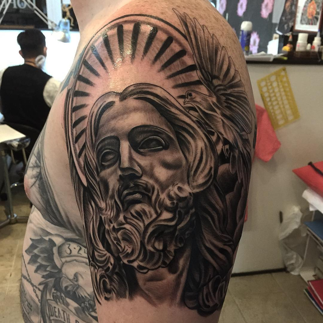 28 jesus tattoo designs ideas design trends premium for Black and grey tattoo designs