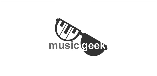 cool music geek logo