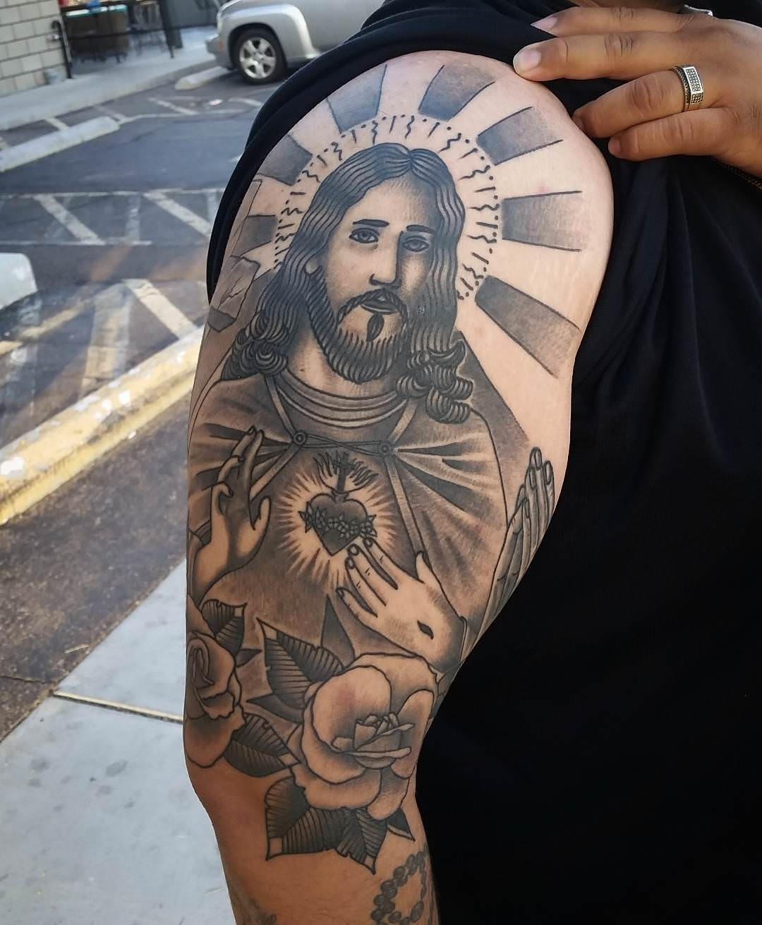 Cross Jesus Tattoo Design