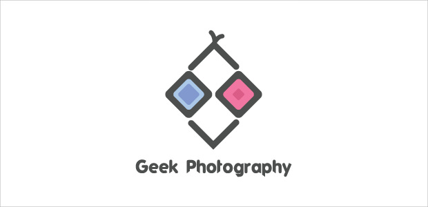 amazing photography geek logo illustration
