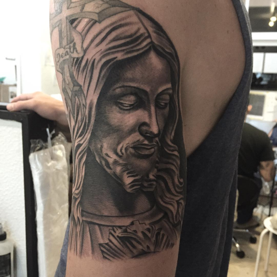 Wonderful Jesus Tattoo Design