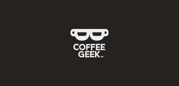 simple coffee geek logo
