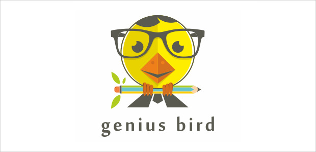 genius bird geek logo