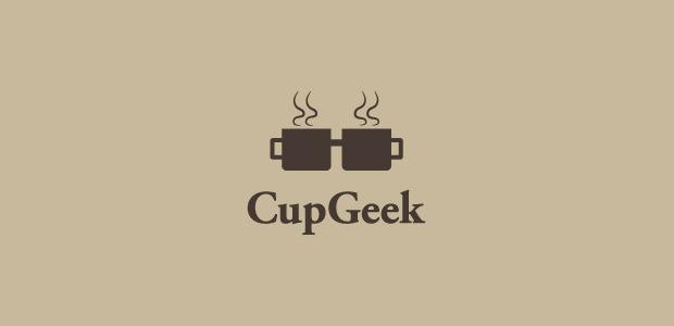 creative cup geek logo