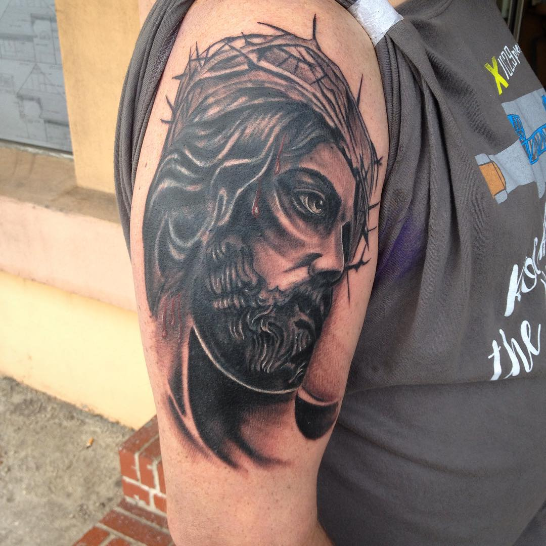 Jesus Tattoo Coverup Design.