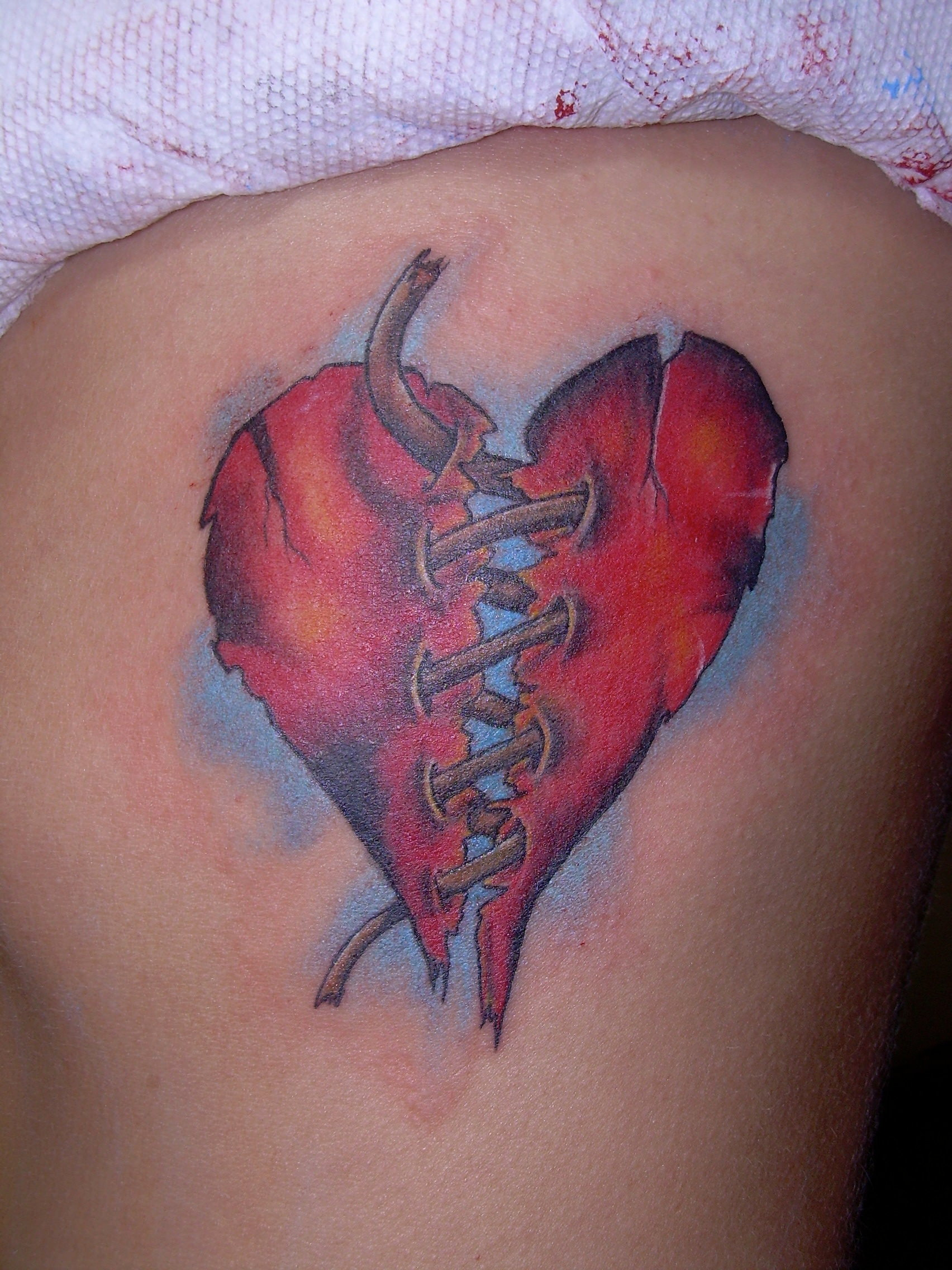 Broken Heart Tattoo Design - Best red broken heart