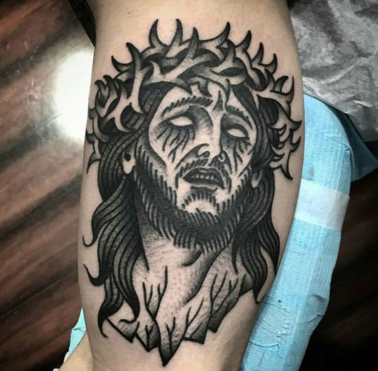 Awesome Jesus Tattoo Design