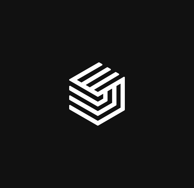 cool shipping company isometric logo