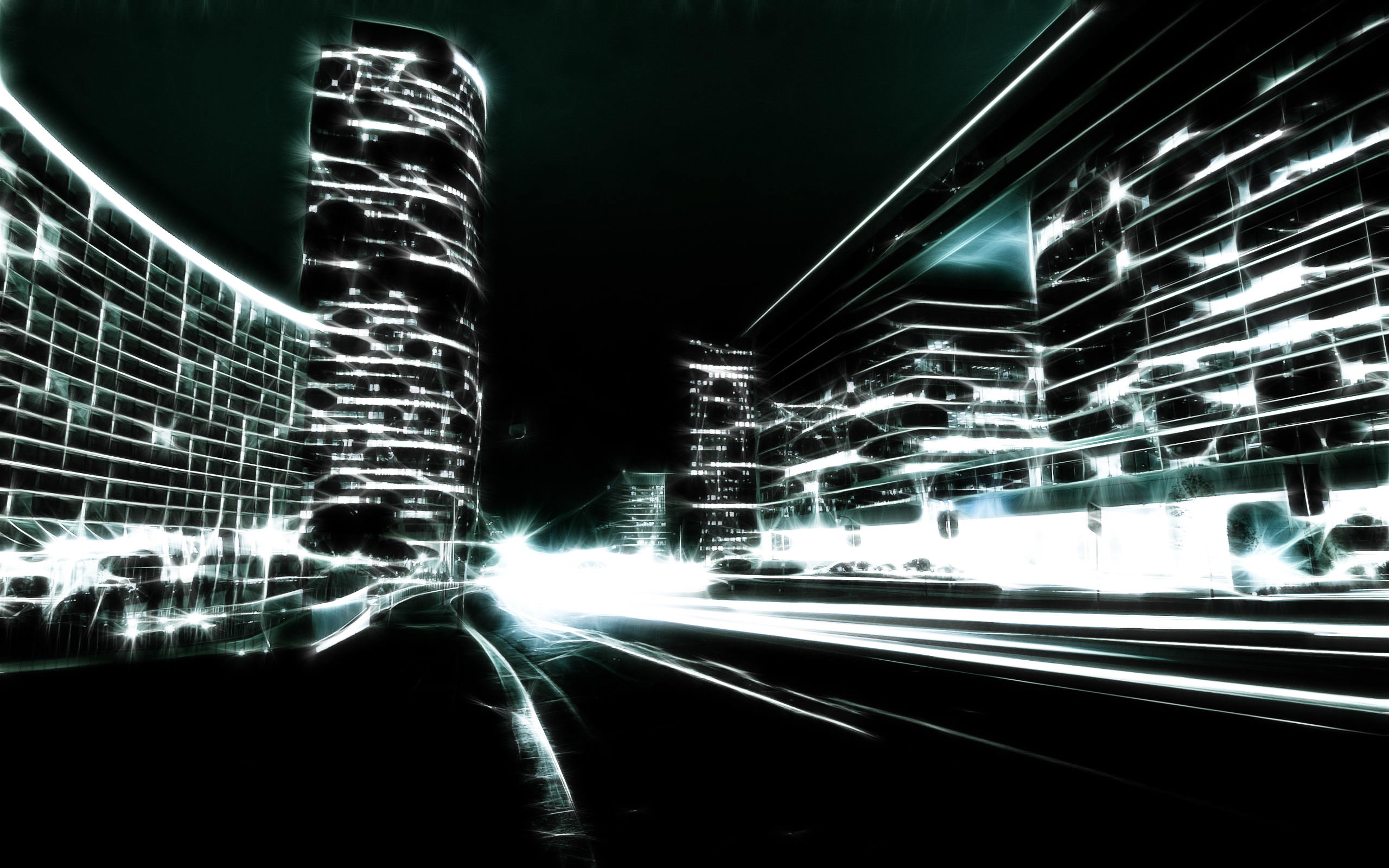 Digital Art hd Dark Cityscape Wallpaper