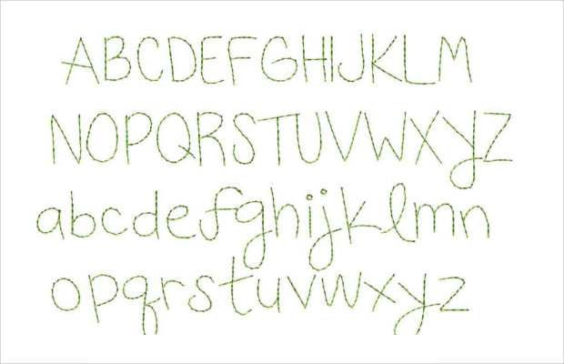Cool Upper Case and Lower Case Sketch Font Letters