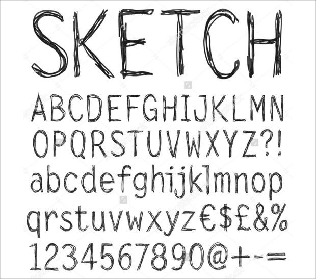 Amazing black sketch font