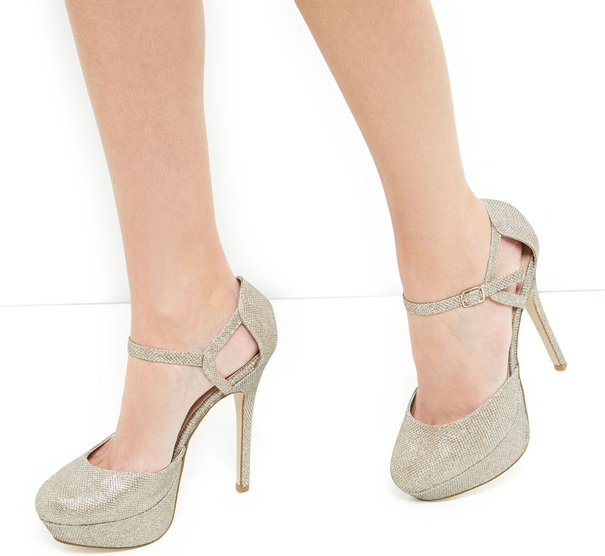 Strap Platform Heels For Women