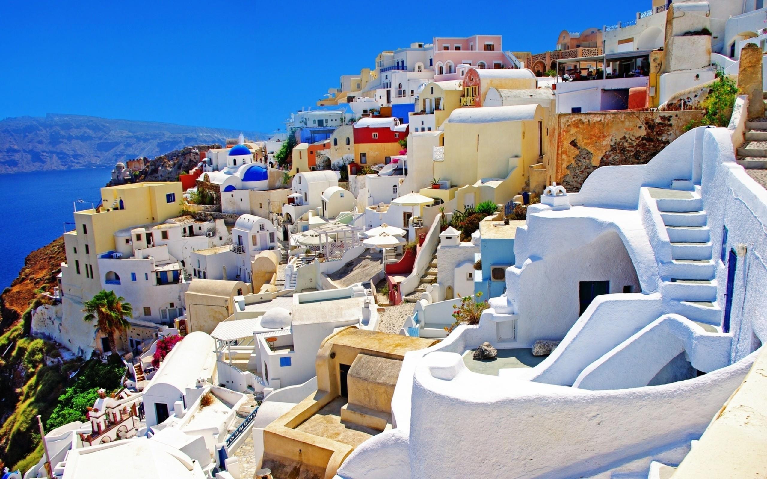 santorini greece cityscape