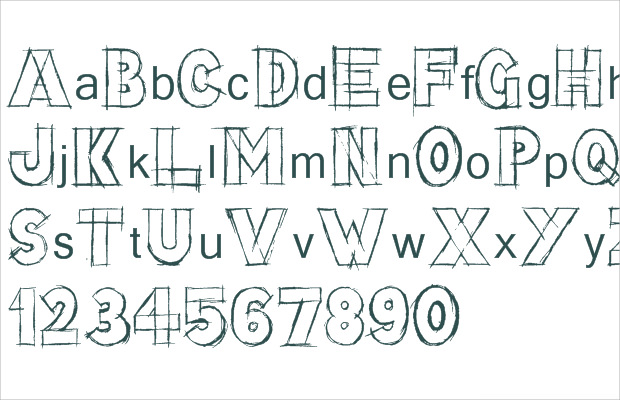 block stunning sketch fonts