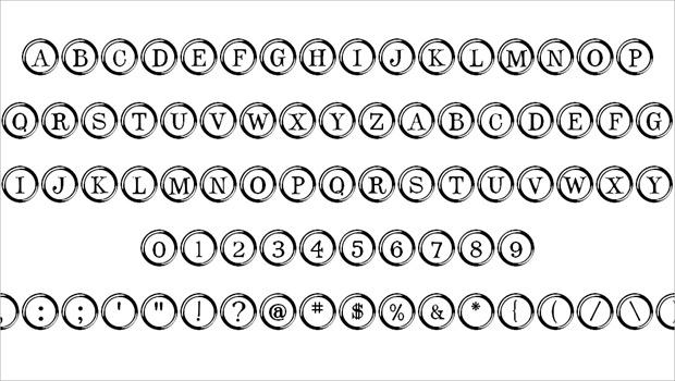 amazing type writer key fonts