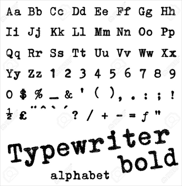 typewriter fonts - ttf  otf format download