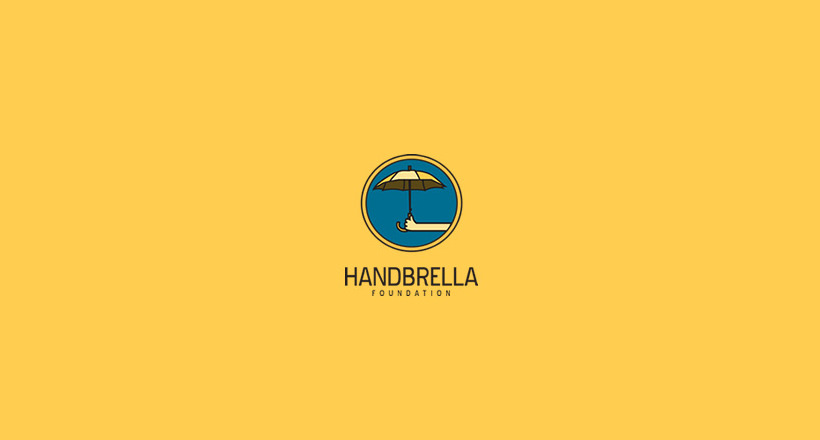 handbrella design logo