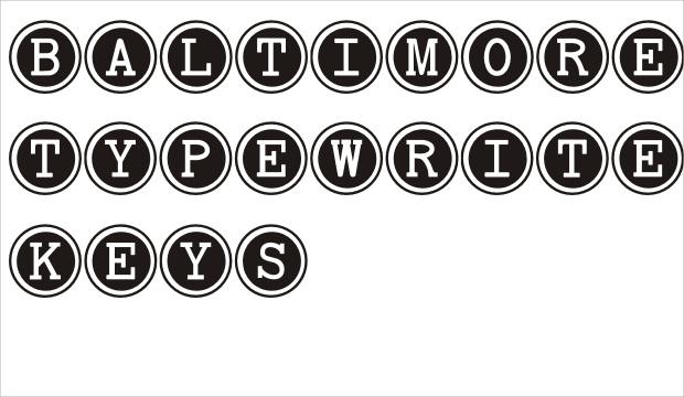 brilliant baltimore typewriter key fonts