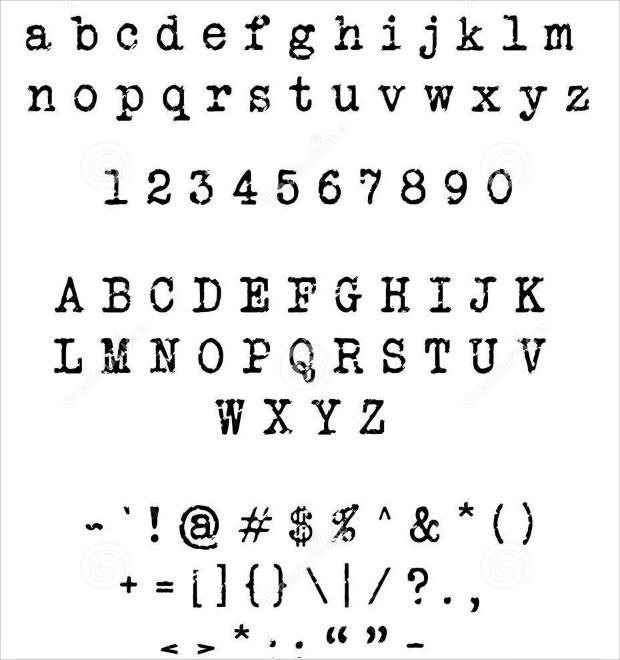 amazing type writer font