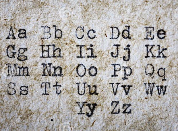 vintage style type writer font