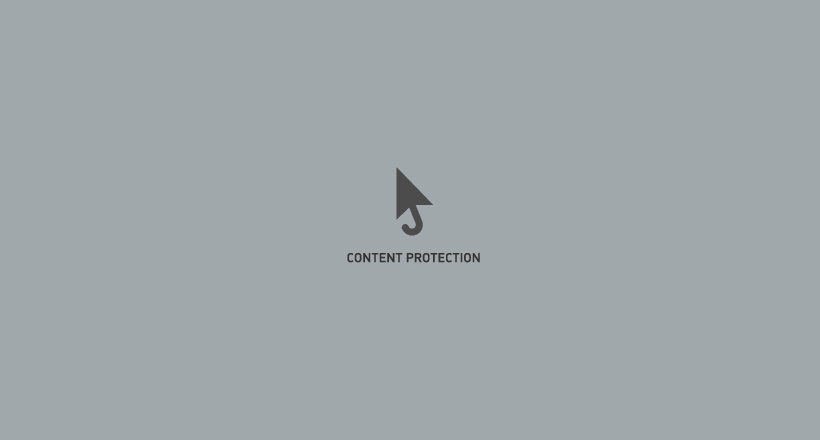 content protection logo design