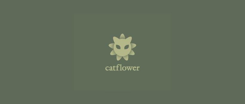 Flower shaped Cat Logo