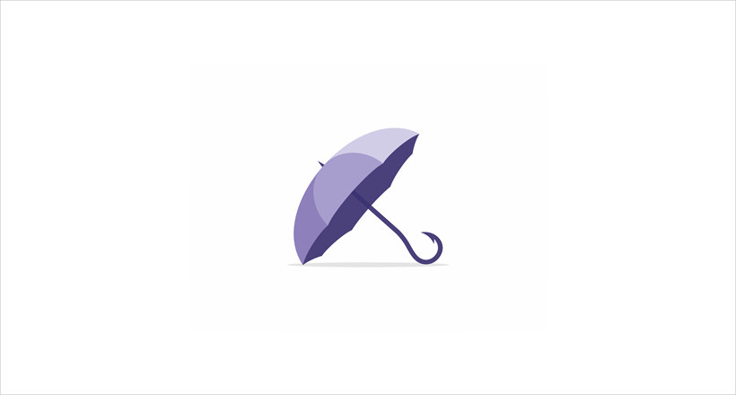 blue colored umbrella design