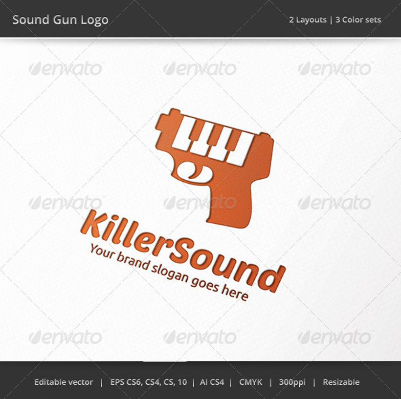 sound gun logo