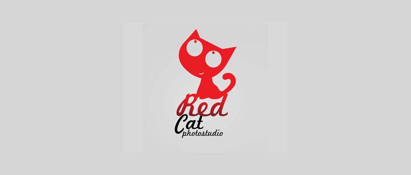 Cute Red Cat Logo