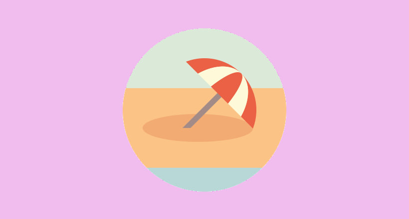 umbrella logo for summertime