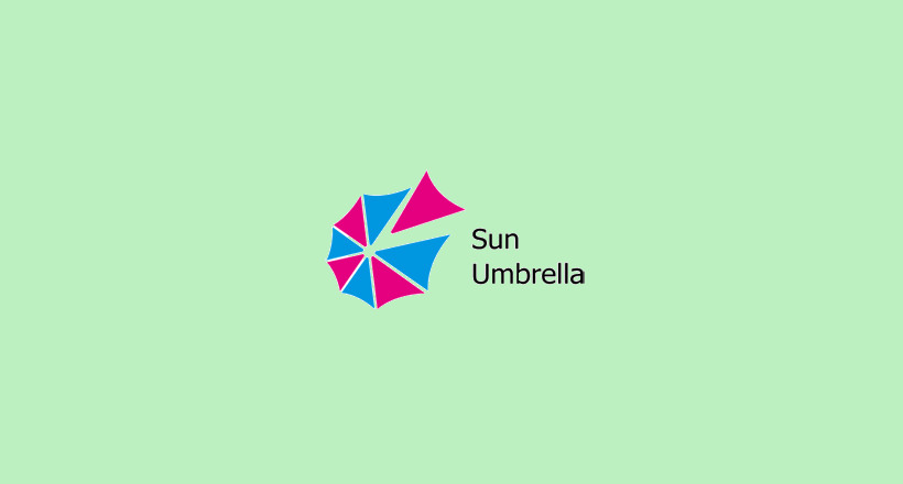 Sun Umbrella Logo Design