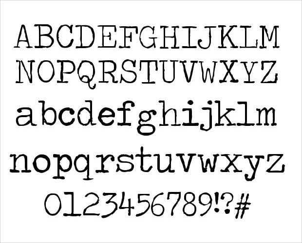 fancy type writer fonts
