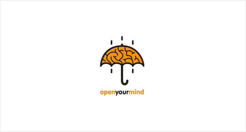 umbrella design logo for openyourmond
