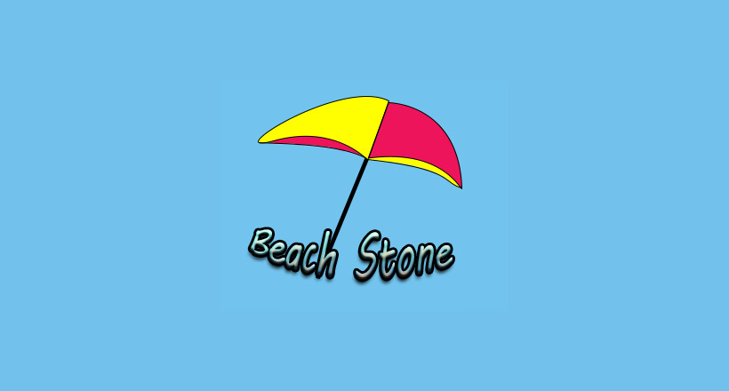 beach stone logo design
