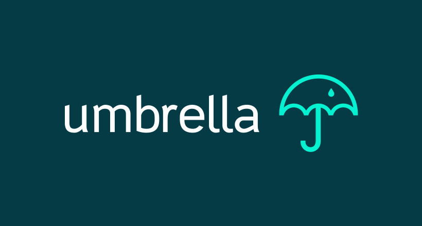 colorful umbrella design logo