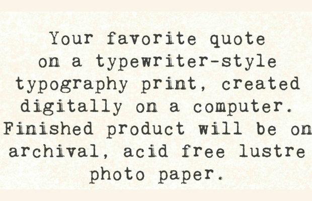 brilliant type writer font