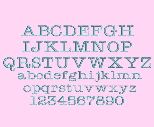beautiful typewriter font embroidery designs