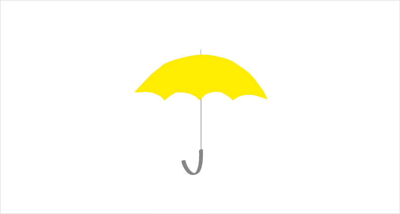 Yellow Colored Umbrella Logo