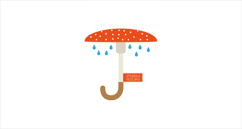 umbrella muscaria logo design